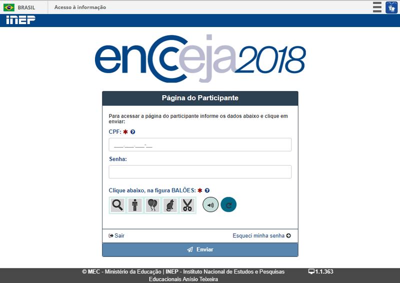 Resultado Encceja Portal do participante