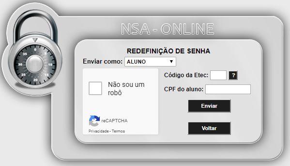 Recuperar Senha do NSA